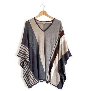 Cabi Horizon Stripe Poncho Sweater Size Medium
